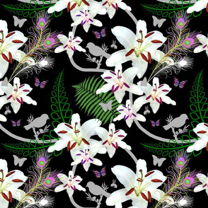 Tangled Paradise - black, medium