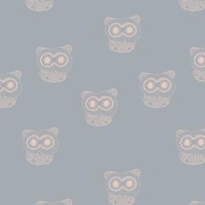 Little Scandinavian vintage style owls sweet boho owl design kids nursery baby cool blue blush