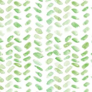 Kelly green watercolor herringbone - painted brush strokes abstract boho geometrical a078-6