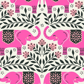 Lucky Elephants - Large Scale Pink