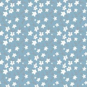 dainty flowers blue - S