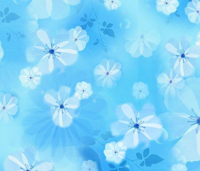 Pale sky blue - white watercolor flowers _ petals