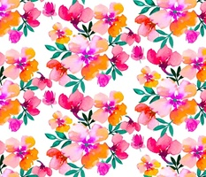 Bright coloured florals springtime