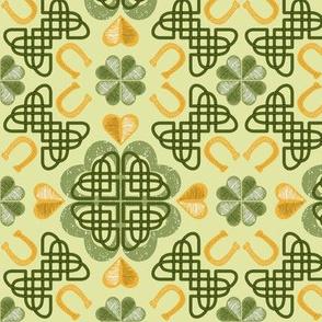 LUCKY LUCKY clover 12x12 ©Julee Wood