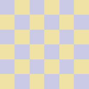 lilac yellow checker