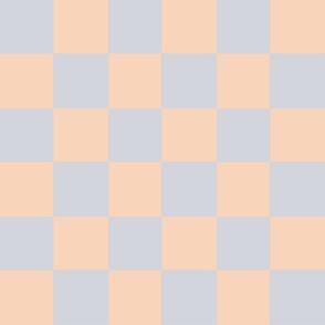lilac peach checker