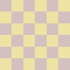 yellow beige checker square