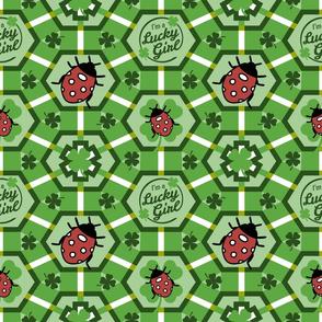 Lucky Girl Clover and Ladybugs