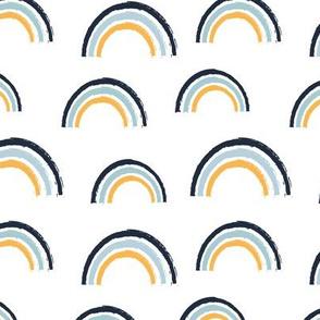 safari baby nursery - rainbows