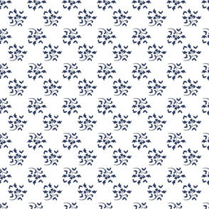 Lemon Zest blue and white flowers small blue flowers cottagecore farmhouse teatowel classic TerriConradDesigns