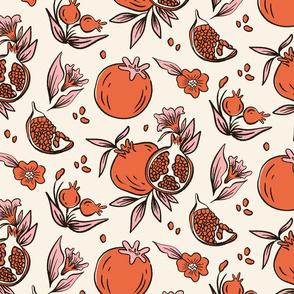 Lamb Illustration's Pomegranate Pattern Small Scale