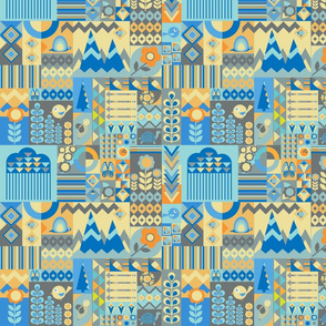 Modern Patchwork Quilt, 10 inch