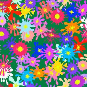 Fountain Pen Splat Flowers