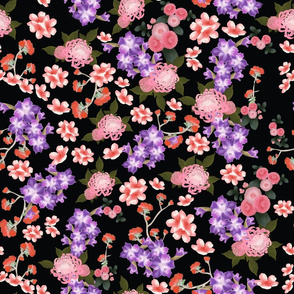 Far East Rococo florals