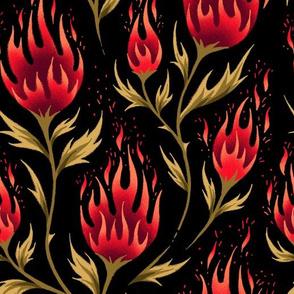 Fire Flower - Red Green