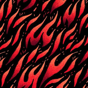 Flames - Red Black