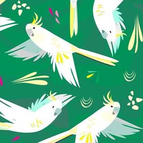 Woop-dee-doo Cockatoo, green