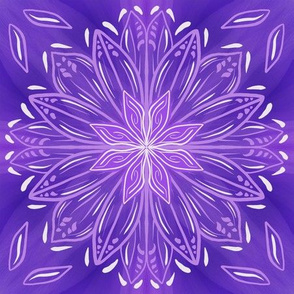 Purple Abstract Stars Mandala
