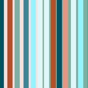 Green &  Orange Stripes