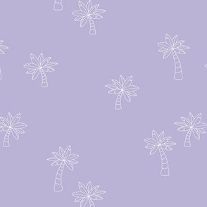 The minimalist beach palm trees tropical boho design neutral nursery and swimwear lilac purple
