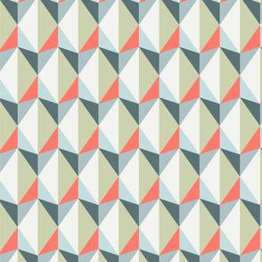 pink gray retro triangles - big
