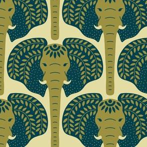 Elephant heads -  Green