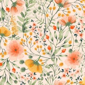 Hand-Drawn Florals Garabateo