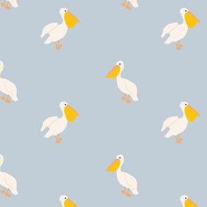 Pelican in Periwinkle-3.4x2.67