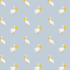 Pelican in Periwinkle-2.06x1.6