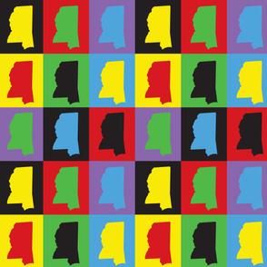 Mississippi Pop Art Pattern