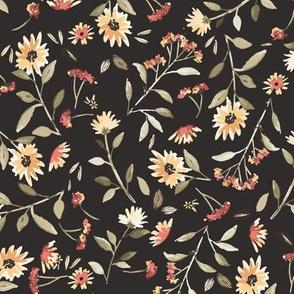 Sunflowers &  Milkweed (dark)