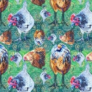 Three Old Hens French Country 4x4