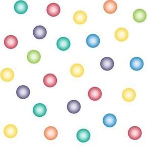 balloon dots - crayon rainbow