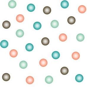 balloon dots in retro surfing colors