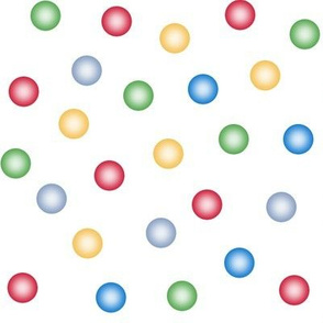 balloon dots in Christmas colors