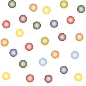 balloon dots in autumn colors