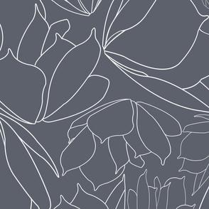 Blue Line Floral Breakfast Tea Pattern