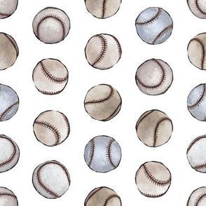Baseballs Back Then on White