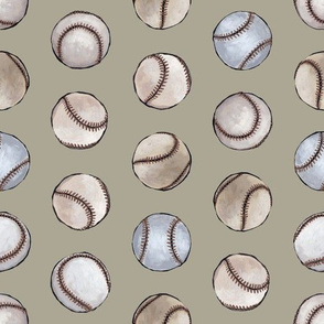 Baseball Back Then on Taupe