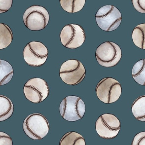 Old Time Baseball- mid blue