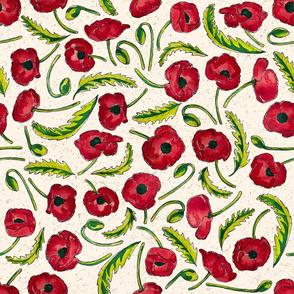 Painted Poppies by ArtfulFreddy