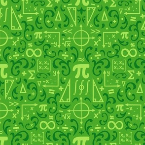 Mathematical Damask (Green)