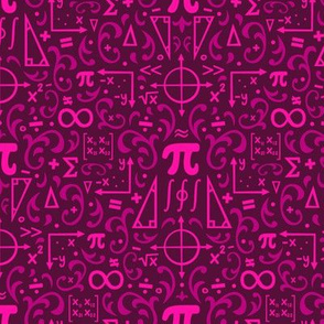 Mathematical Damask (Pink)