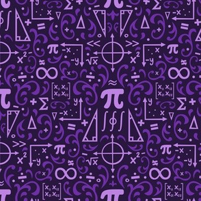 Mathematical Damask (Purple)