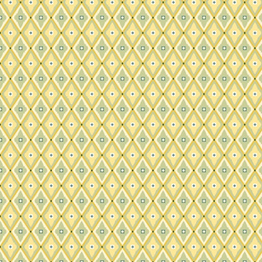 geometric quatrefoils mellow yellow small