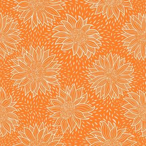 Normal scale • Always sunflowers orange line