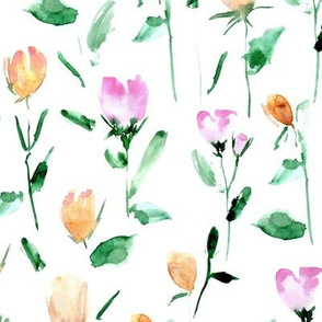 Rose garden treasures from Venice - watercolor roses - painted florals a122-1