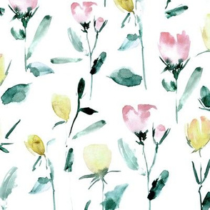 Rose garden treasures from Venice - watercolor roses - painted florals a122-2