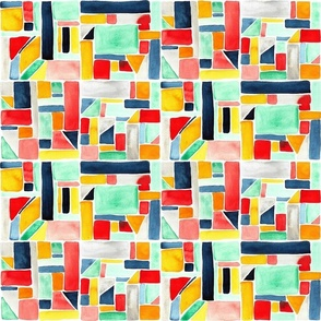 Watercolor patchwork small