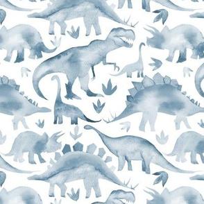 Steel Blue Dinosaurs - medium scale